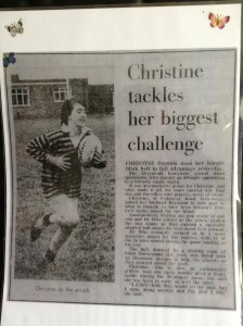 Myself at the age of 28 in 1982 when I played with an all male blind rugby team which is thought to have been the first match of it's kind ever to be played in Britain.