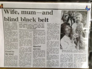 """Article from the """"Northern Echo"""" 1982 with son Lee eleven and a half months old."""