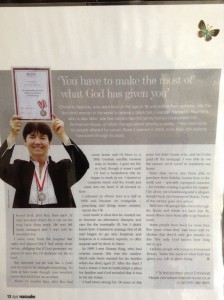 """Article from """"Womanalive"""" magazine April issue."""