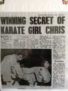 "Article from the ""Sunday Mirror"" January 14th 1979 about receiving my Black Belt in Karate."