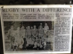 Myself with husband Raymond, and the first all blind male rugby team in the UK