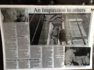 """Evening Chroncile"" article January 14th 2003 on the opening of Emmanuel House on Jan 8th 2003 in memory of Dianne King."